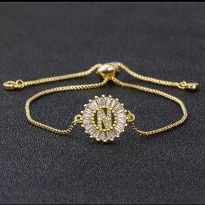 Jewelry - New Gold N Pave CZ Diamond Bracelet